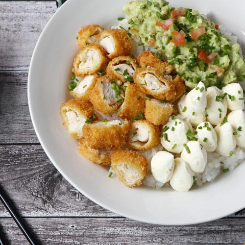 Poke Salad Mex con pollo