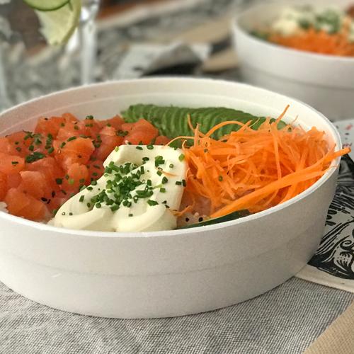 Poke Salad con Langostinos