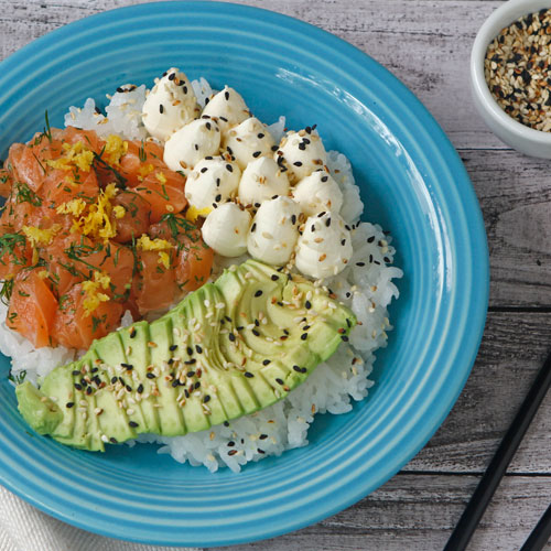 Poke Salad con Salmon Fresh