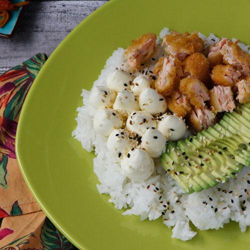 Poke Salad con Salmon  Panko